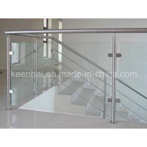 ステンレス鋼手すりの手すりのガラス階段柵
