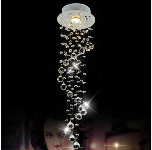 Modernes decken-Lampen-Chrom-Spirale-helle Vorrichtung Lutres Foyer Avize der LED-Leuchter-Beleuchtung-K9 Kristallhauptküche-Beleuchtung