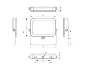 IP65 van de Uiterst dunne 20W LEIDENE van AC85-265V Schijnwerper de Lichte iPadVorm van de Vloed