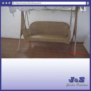 置換の屋外の2つのシートのハングの振動おおいの家具セット、テラスのヤードのシートの藤の家具(J1598)