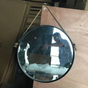 Specchio della parete incorniciato metallo nero rustico del ferro di attaccatura di parete dell'annata