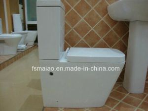 Универсальный дренаж сточных вод путем водяного знака закрыть два туалета