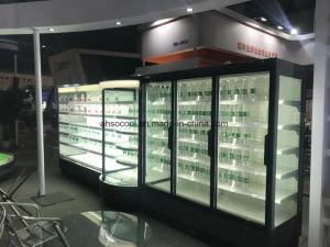 De Koeler van de Vertoning van het Gordijn van de Lucht van Multideck van het verse Vlees voor Supermarkt