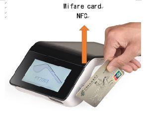 Bewegliches Terminal Positions-PT7003 mit des GPS-WiFi 4G Chipkarte Screen-NFC Magnatic und Bluetooth Thermodrucker für Verbrauchs-Sektor