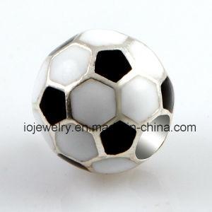 Charme van de Voetbal van het Email van de Juwelen van sporten de Zwart-witte