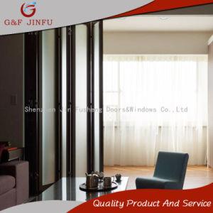 Алюминиевые домашних хозяйств внутренних дел складные двери с двойным стеклом