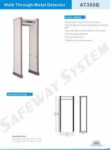 De Detector van het Metaal van de Producten van de veiligheid ervaart de Deur van de Opsporing van het Metaal van het Type
