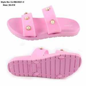 Новая конструкция леди ПВХ верхний слайд сандалии женщин