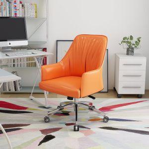 В середине задней панели провод фиолетового цвета кожи поворотный Office кресло для отдыха