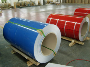 PE/PVDFカラーはアルミニウムにコイルおよびストリップまたはコイルのPrepaintingに塗った