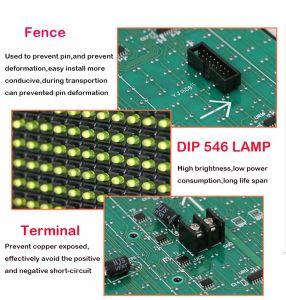 Alto brilho P10 Módulo de LED de exterior de cor amarela