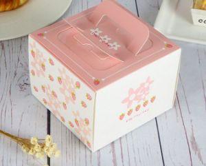 De Dozen van de Cake van het Brood van de Doos van de Kaastaart van de douane met de Doos van de Gift van de Cake van het Handvat voor Huwelijk