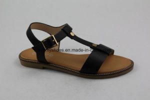 T-sangle Open Toe sandale Fashion Lady chaussures plates