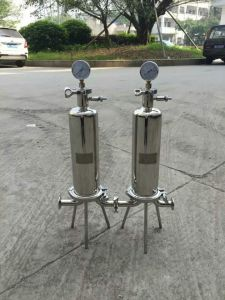 Industriels en acier inoxydable de haute qualité Boîtier de filtre à cartouche unique