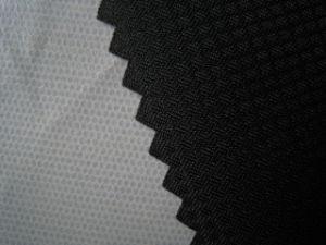 100% de poliéster Grid Pongées Fabric com TPU para casacos