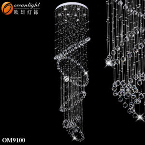 Escada em espiral para pendurar candeeiros lustres pendente em cristal Om9100
