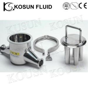Aço inoxidável pipeline de pó de líquidos de Higiene Filtro do Separador Magnético