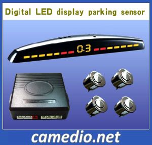 Novo modelo de sensor de Estacionamento de marcha do carro com display digital LED&4 sensores traseiros
