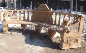 Stoel van de Tuin van de steen de Marmeren Antieke voor het Ornament van de Tuin (QTC033)