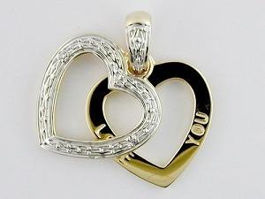 pendente dell'oro giallo 10K con il diamante (LPG1052)