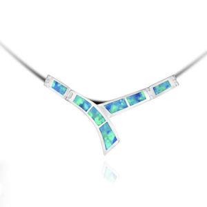 Argento sterlina 925 Pendent con l'opale (LOP1084)