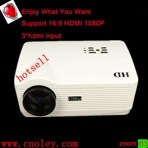 Bonito video proyector de transparencias Proyector con HDMI, VGA, USB (H3).