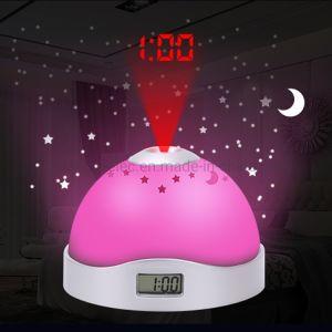 De Wekker van de Projectie van Moon&Stars Met het 7 LEIDENE van Chang van de Kleur Licht van de Nacht voor de Jonge geitjes van de Baby