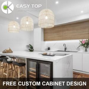 Gran rostro moderno de madera ecológica el bastidor de madera de color blanco y armarios de cocina de grano de muebles de cocina moderna