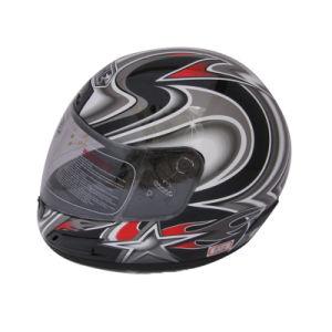 Motorrad zerteilt ABS materiellen volles Gesichts-Sturzhelm