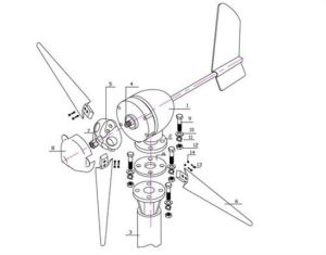 400W het Systeem van de Turbine van de wind voor Ver Dorp
