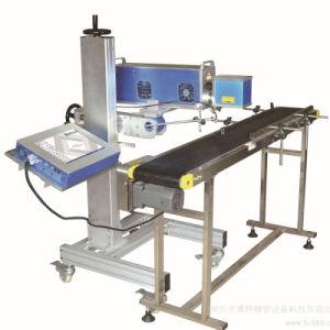 PVC PP Pet PS 10W 3W 5W Flying machine de marquage au laser pour les bouteilles en plastique de la production en ligne