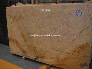 Colore giallo/lastra di marmo dell'oro per le mattonelle di pavimento/parete/cucina/stanza da bagno