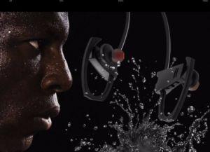 Estéreo de alta definição com auriculares com cancelamento de ruído Sweatproof Desporto Fone de ouvido auricular Bluetooth sem fios v4.1 auriculares para Smart Phone