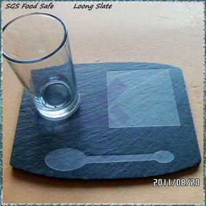 De Onderlegger voor glazen van het Zandstralen van de Lei van het Glas van de Kop van de koffie