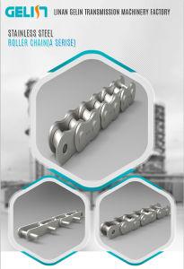 Corrente do Rolo de Transmissão de aço inoxidável Ss Corrente do Pino Oco
