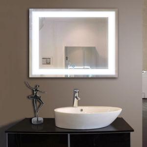 ETL Hotel de lujo aprobado LED iluminado cuarto de baño espejo retroiluminado.