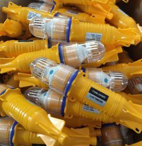 Uso de las luces de pesca en el mar, en la red de alta calidad