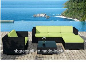 Hot Sale économique Patio extérieur rotin/canapé d'angle d'osier meubles de jardin