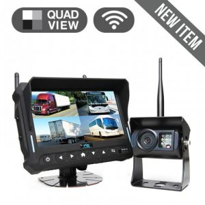 7-pulgadas de 4CH inalámbrico Monitor de grabación digital cámara de visión trasera para camiones, tractores agrícolas, cultivador, remolques, autobuses
