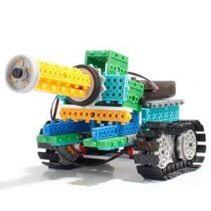 1488721-4 1 탱크 로봇 구획 장비 원격 제어 RC 구획에서 교육 창조적인 장난감 237PCS - 무작위 색깔을 놓으십시오