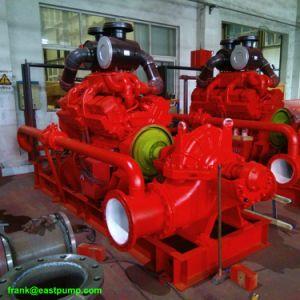 La lucha contra incendios de motor diesel Cummins bomba 450kw 600CV la extinción de incendios de la bomba de aspiración doble 120L/S 1900 usgpm