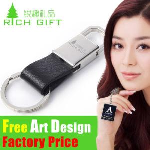 Fabbricazione multifunzionale Keychain di affari Metal/PVC/Feather di alta qualità con l'anello portachiavi