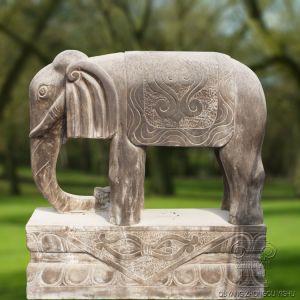 Het marmeren Standbeeld van de Olifant met Antieke Blik t-2267