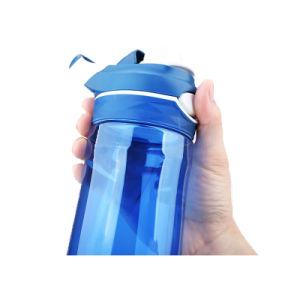 750ml de cor personalizada de plástico portátil Sport Garrafas de água com pega