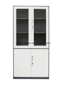 متحمّل [سمي-غلسّ] فولاذ مكتب تصنيف عرض تخزين معدن مبرد [بووككس] خزانة قابل للإقفال