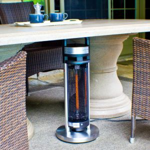 aço inoxidável portátil com pega de aquecedor de aquecimento por infravermelhos de piso
