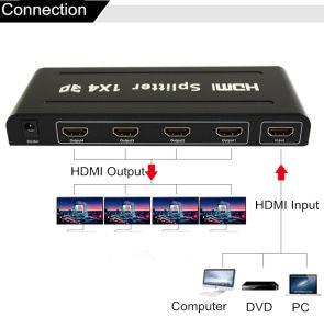 4K 2K de Splitser van de Multiplicator van de Verdeler van HDMI 1X4 met Lange Kabel