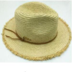 Mode large bord de plage Lady Raphia Chapeau de paille