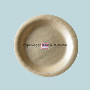 9 بوصات [كرن سترش] زبد مستهلكة قابل للتفسّخ حيويّا مستديرة [دينّر بلت] صينيّة