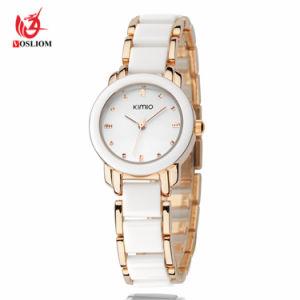 2018 Nouveau Mesdames de l'Imitation de la céramique Watch Or Rose Bracelet Montres de luxe N° V406